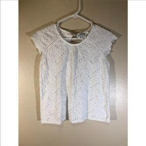 Lucky Brand Lace Eyelet Top